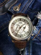 Oris Watch Artelier Worldtimer Mens Stainless Steel Automatic