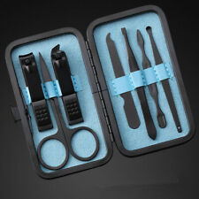 7Pcs Stainless Steel Nail Clipper Set Pedicure Scissor Tweezer Manicure Set Kit