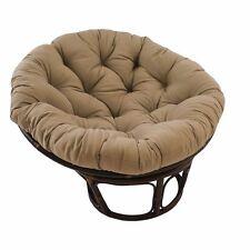 Rattan Papasan Chair with Toffee Cushion