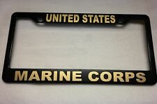 Military License Plate FRAME, UNITED STATES/MARINE CORPS-- ABS-#841121G