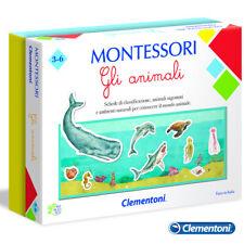 CLEMENTONI MONTESSORI GLI ANIMALI GIOCO EDUCATIVO 16100