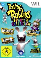 Nintendo WII RAYMAN RABBIDS PARTY COLLECTION 1 + 2 + TV Party Top Condizione