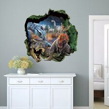 The world of Dinosaurs 3D Wall Sticker Removable Decals Living Kids Decor Mural