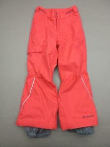Columbia Size S(8) Girls Red Athletic Fleece Lined Cargo Snow Ski Pants T871