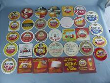 Lot de 34 SOUS BOCK différents AMSTEL beer mats bierviltje Bierdeckel A37 bis