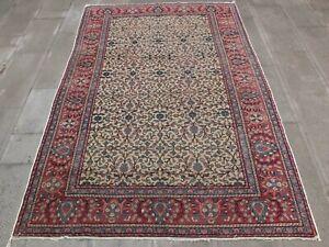 Red Rug 4.9x7,Turkish Rug,Kitchen Rug,Floor Mat,Antique Wool Rug,Handmade Rug.