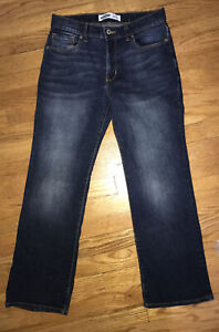 Old Navy Boy's Bootcut Built in Flex Blue Jeans Size 12 Husky Adjustable Waist