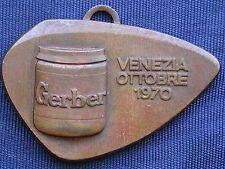MEDAGLIA PUBBLICITARIA ADVERTISING GERBER VENEZIA OTTOBRE 1970 CONGRESSO VENEZIA