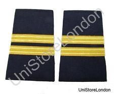 Epaulet Pilot Epaulette Sliders 2 Gold Bar Flight Engineer Navy Blue Cloth R1303