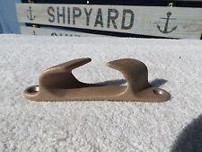 4+7/8 INCH BRASS CHOCK SHIP BOAT DOCK BRONZE CLEAT  DECOR (#740)