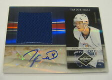 Taylor Hall 2010 Panini Limited RC Auto/Jersey #/49 Oilers FREE SHIP