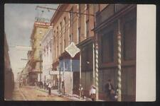 POSTCARD NEW ORLEANS LA ROYAL ST COMMERCIAL HOTEL & BUSINESS STORE FRONT 1907