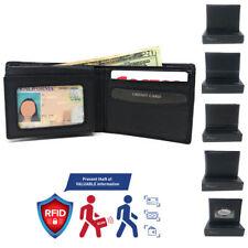 Belano радиочастотная идентификация блокировки настоящая кожа складные кошельки для карточек идентификатор с коробкой, мужская, женская