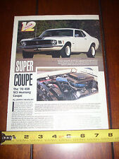 1970 FORD MUSTANG 428 COUPE SUPER STOCK - ORIGINAL 1993 ARTICLE