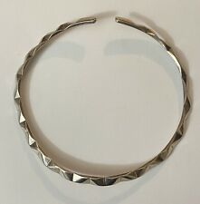 Collar Necklace Signed Mpf (46 Grams) Vintage Taxco 950 Tr-25 Mexico Modernist