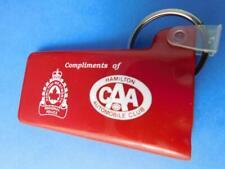 CAA CAR VINTAGE KEY CHAIN FOB ADVERTISING HAMILTON CANADIAN AUTOMOBILE CLUB