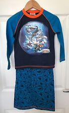 BNWT Boys Blue Blue Orange Skylanders Giants Pyjamas - Size 3-4 Years