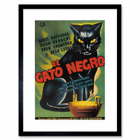 Film Advertisement Black Cat Gato Negro Rathbone Herbert Framed Wall Art Print