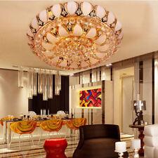 Gold Modern Crystal LED Chandelier Ceiling Fixture Light Pendant Lamp Lighting