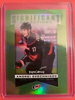 2018-19 UD Synergy Significant Selections Green RC #SS-7 Andrei Svechnikov /199