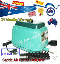 Resun LP-100 Septic Tank Air Pump 140L/min Pond Aquarium 8400l/Hr 2Yr Elect Wty