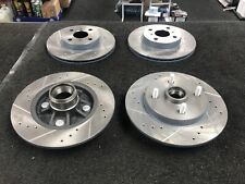 TOYOTA STARLET GLANZA EP91 EP82 DRILLED GROOVED FRONT REAR BRAKE DISCS NO ABS