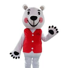 Polar Bear Mascot Costume Suit Cosplay Adult Dress Clothing Halloween Outfit