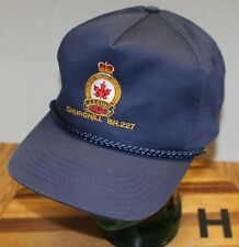 THE ROYAL CANADIAN LEGION CHURCHILL BRANCH #227 HAT BLUE SNAPBACK VGC H