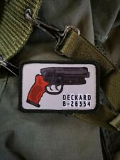 Blade Runner Movie Rep Detective Gun Military Morale Patch, hook & loop