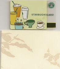 Starbucks Gift Card - Drink Illustration - Vintage Velvet Leaf Sleeve - 2006