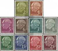 BRD 177x-186x postfrisch 1954 Bundespräsident Heuss (I)