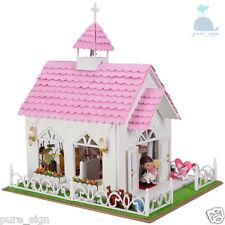 DIY Handcraft Miniature Project My Pink Wedding Chapel Italy Wooden Dolls House