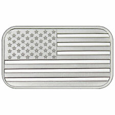 1 Troy oz American Flag .999 Fine Silver Bar Sealed