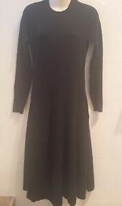 Witchery black long sleeve maxi knit dress, Size S
