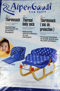 AlpenGaudi Thermosack Schlitten-Thermosack blau