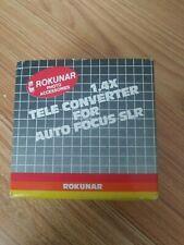 Rokunar 1.4X Tele Converter for Auto Focus SLR