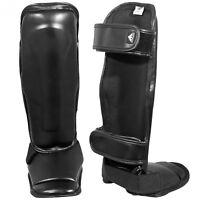 Shin Instep Vinyl Guards MMA Kickboxing Muay Thai Leg Support Protector Pad