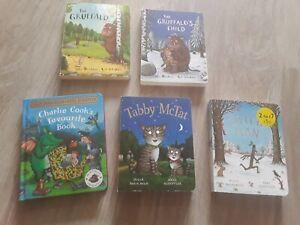 5 Julia Donaldson board books, Gruffalo, Gruffalos Child, Charlie Cook, Tabby et
