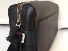 Paul Smith Vintage Stripe Cross Body Shoulder Bag Messenger - Black Leather -