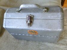 Vintage Simonsen Aluminum Double Hip Roof Tackle Box w/cork lined trays