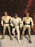 Hasbro Star Wars Power of the Force Action Figure Lot of 3 Han Solo Skywalker