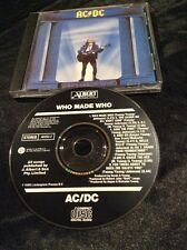 AC/DC WHO MADE WHO CD EARLY AUSTRALIA AUSSIE BLACK ALBERT PRODUCTIONS 465253 2