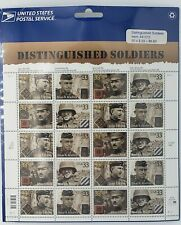 2000- DISTINGUISHED SOLDIERS - Sheet of 20 Stamps - Sealed #3393-6