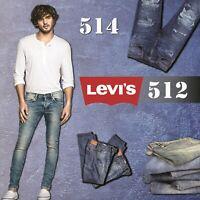 Brand New Levi's 512 Mens Original Jeans Pants Trouser Denim Slim Fit Stretch