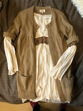 BNWT ERIC BOMPARD 100% CASHMERE THICK CHUNKY KNIT LONG CARDIGAN