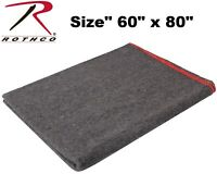 """Military Style Camping Wool Emergency Rescue 60"""" x 80"""" Survival Blanket 10429"""
