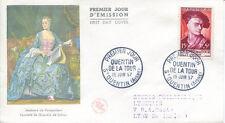 FRANCE FDC - 205 1110 3 MAURICE QUENTIN DE LA TOUR - 15 6 1957