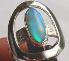 Brasil Crystal Opal 2.9 Carat 950er Silberring Größe 20 mm