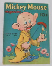 1930's Mickey Mouse Magazine Vol. 3 #9 Jun 1938 Western Publishing