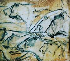 Lions  :  Cave Painting Chauvet Cave France :  Aurignacian Era  :  Art Print